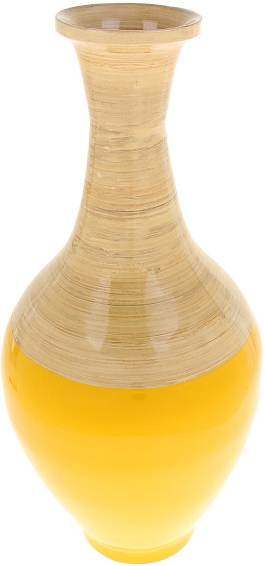 Ваза интерьерная Жёлтый глянец, цвет: желтый, 53,5 см842784Бамбук это универсальный, экологически чистый материал, который часто используется в производстве мебели и предметов домашнего обихода. Восхитительная вьетнамская Ваза интерьерная Жёлтый глянец, из бамбука - настоящее произведение искусства! Она выполнена вручную искусными мастерами-ремесленниками, соблюдая традиционно азиатскую стилистику. Казалось бы, простая ваза, покрытая яркой эмалью, но нет, это ваза, которая отражает самый настоящий символ загадочного Вьетнама. Преподнесите такую вазу в качестве подарка или соберите целую коллекцию подобных вьетнамских ваз!