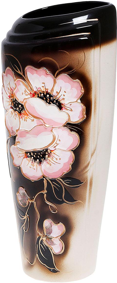 Ваза Керамика ручной работы Эмма, цвет: коричневый. 851838851838Ваза из керамики не только станет прекрасным элементом декора помещения, но и сохранит свежесть вашего букета на долгое время. Подобно термосу, керамические сосуды сохраняют воду прохладной даже при высокой внешней температуре. Доказано, в керамической вазе цветы стоят почти в 2 раза дольше.