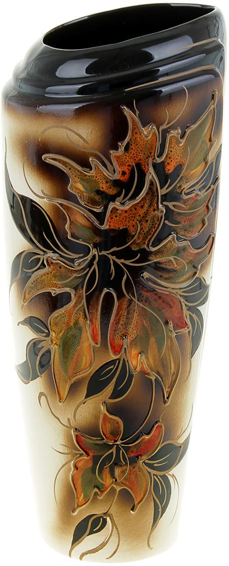 Ваза Керамика ручной работы Эмма, цвет: коричневый. 851841851841Ваза из керамики не только станет прекрасным элементом декора помещения, но и сохранит свежесть вашего букета на долгое время. Подобно термосу, керамические сосуды сохраняют воду прохладной даже при высокой внешней температуре. Доказано, в керамической вазе цветы стоят почти в 2 раза дольше.