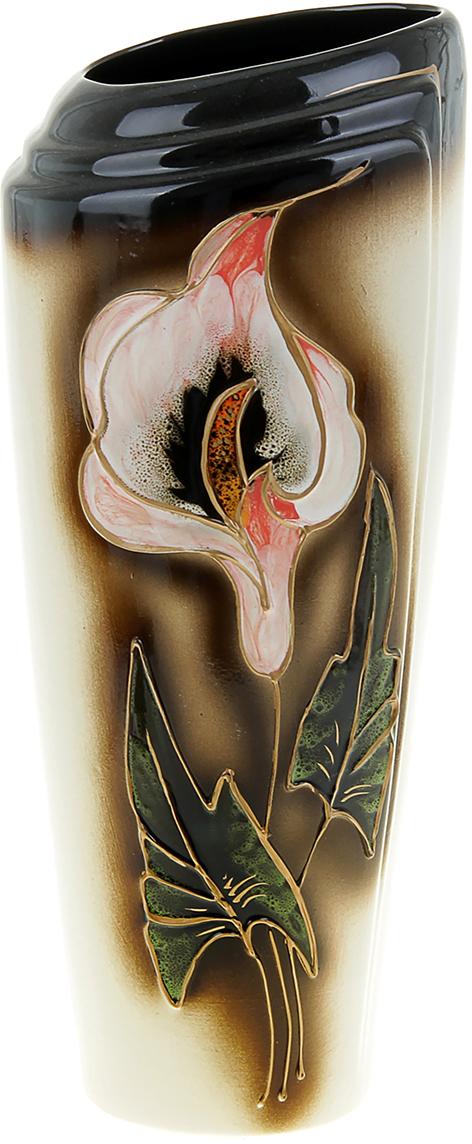 Ваза Керамика ручной работы Эмма, цвет: коричневый. 851842851842Ваза из керамики не только станет прекрасным элементом декора помещения, но и сохранит свежесть вашего букета на долгое время. Подобно термосу, керамические сосуды сохраняют воду прохладной даже при высокой внешней температуре. Доказано, в керамической вазе цветы стоят почти в 2 раза дольше.