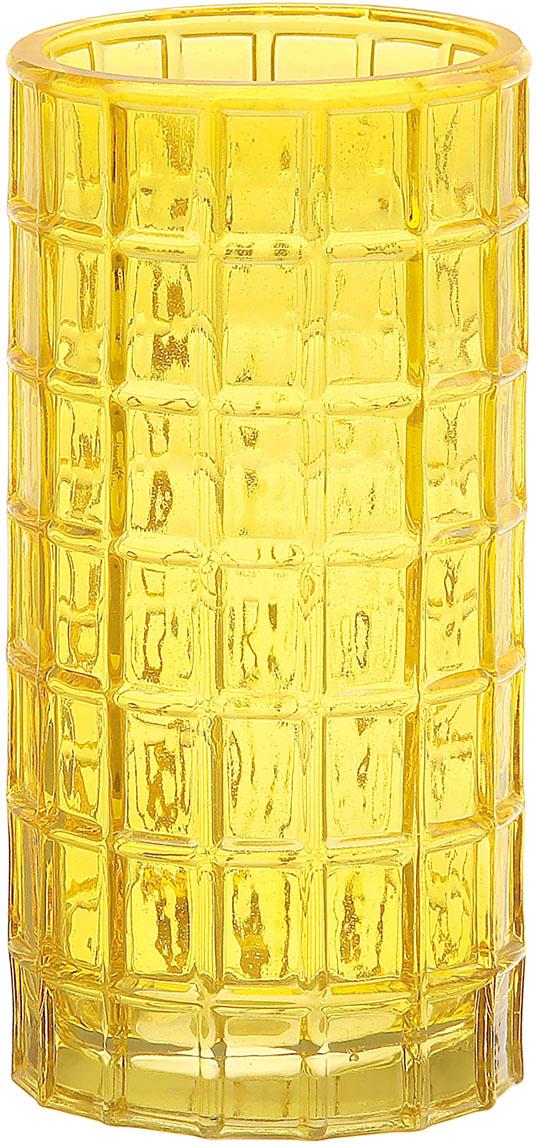 Ваза Радуга, цвет: желтый, 20 см865962Ваза Радуга жёлтые квадраты способна преобразить внешний облик комнаты, коридора или зала. Стеклянные предметы интерьера благодаря прозрачности и игре света делают пространство свежее и придают ему лёгкость. В такую вазу можно поставить хоть цветы, искусственные или живые, хоть декоративные ветки или тинги. Дайте волю фантазии, и у вас получится неповторимая композиция, которая будет поднимать настроение и радовать глаз, делая помещение ещё уютнее.
