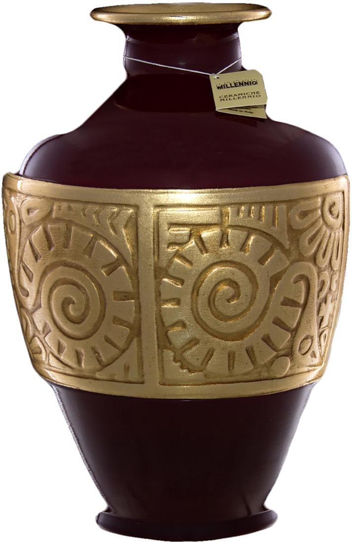 Ваза Ceramiche Millennio Элегантность, цвет: бордовый, 32 см millennio чаша декоративная kennith 12х34х35 см