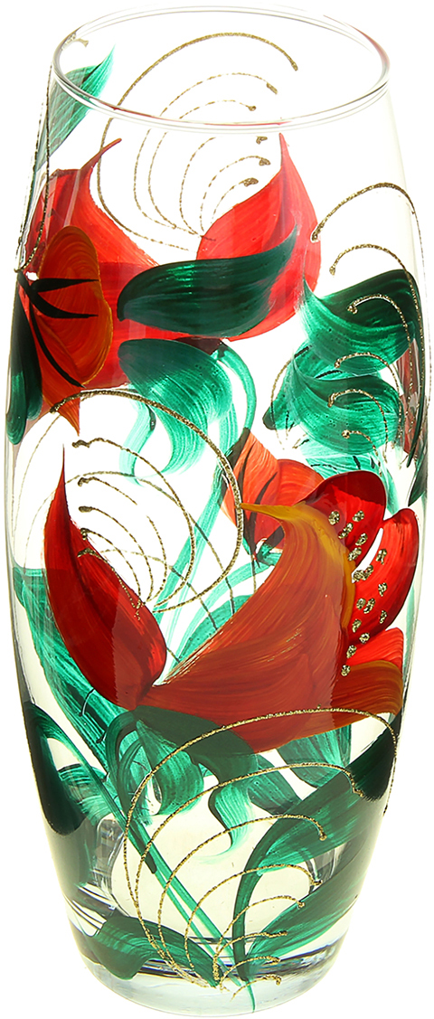 Ваза Парадиз, 26 см878209Ваза Парадиз, овальная оригинальной формы выглядит элегантно и стильно. Впишется в любой интерьер, подойдет любителям минимализма и стиля модерн. В стеклянной вазе особенно хорошо смотрятся строгие однотонные букеты. Изделие расписано цветами лаванды, что подчеркнет красоту обладателя как внешнюю, так и внутреннюю. Станет идеальным подарком на любое торжество.