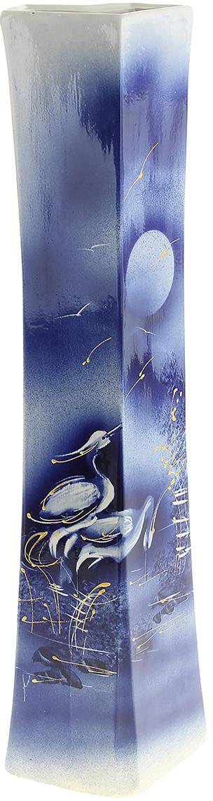 Ваза напольная Керамика ручной работы Айсберг, цвет: синий911130Ваза напольная Айсберг кобальт - отличный способ подчеркнуть общий стиль интерьера.Существует множество причин иметь такой предмет дома. Вот лишь некоторые из них:Формирование праздничного настроения. Можно украсить вазу к Новому году гирляндой, тюльпанами на 8 марта, розами на день Святого Валентина, вербой на Пасху. За счёт того, что это заметный элемент интерьера, вы легко и быстро создадите во всём доме праздничное настроение.Заполнение углов, подиумов, ниш. Таким образом можно сделать обстановку более уютной и многогранной.Создание групповой композиции. Если позволяет площадь пространства, разместите несколько ваз так, чтобы они сочетались по стилю или цветовому решению. Это придаст обстановке более завершённый вид.Подходящая форма и стиль этого предмета подчеркнут достоинства дизайна квартиры. Ваза может стать отличным подарком по любому поводу, ведь такой элемент интерьера практичен и способен каждый день создавать хорошее настроение!