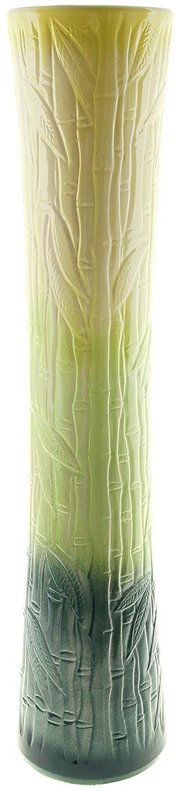 Ваза напольная Керамика ручной работы Виола, цвет: зеленый, 80 см. 911137911137Ваза - сувенир в полном смысле этого слова. И главная его задача - хранить воспоминание о месте, где вы побывали, или о том человеке, который подарил данный предмет. Преподнесите эту вещь своему другу, и она станет достойным украшением его дома. Каждому хозяину периодически приходит мысль обновить свою квартиру, сделать ремонт, перестановку или кардинально поменять внешний вид каждой комнаты. Ваза - привлекательная деталь, которая поможет воплотить вашу интерьерную идею, создать неповторимую атмосферу в вашем доме. Окружите себя приятными мелочами, пусть они радуют глаз и дарят гармонию.