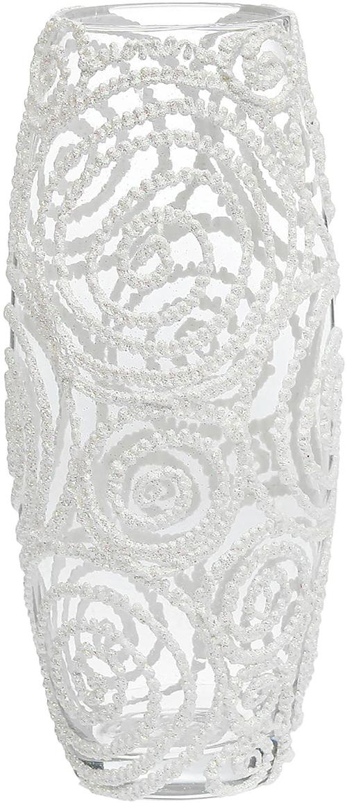 Ваза Блестящие круги, цвет: белый, 25 см1241573Ваза - не просто сосуд для букета, а украшение убранства. Поставьте в неё цветы или декоративные веточки, и эффектный интерьерный акцент готов! Стеклянный аксессуар добавит помещению лёгкости. Ваза Блестящие круги преобразит пространство и как самостоятельный элемент декора. Наполните интерьер уютом! Каждая ваза выдувается мастером. Второй точно такой же не встретить. А случайный пузырёк воздуха или застывшая стеклянная капелька на горлышке лишь подчёркивают её уникальность.