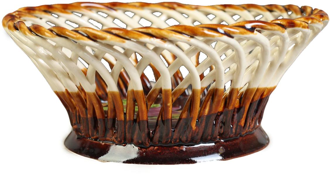 Конфетница круглая Керамика ручной работы, цвет: коричневый. 27391142739114Ваза для конфет украсит любую квартиру, дачу или офис. Преподнести её в качестве подарка друзьям или близким – отличная идея. Необычный дизайн и расцветка может вписаться в любой интерьер и стать его уникальным акцентом. Вещь предназначена для подачи конфет, сухофруктов или восточных сладостей.