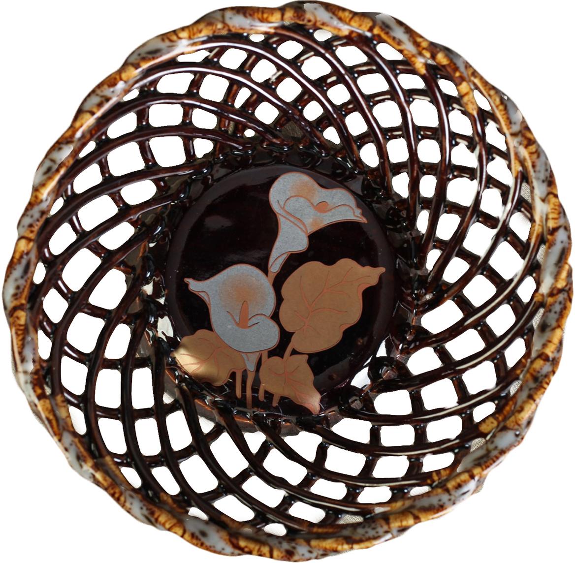 Конфетница круглая Керамика ручной работы, цвет: коричневый. 27391152739115Ваза для конфет украсит любую квартиру, дачу или офис. Преподнести её в качестве подарка друзьям или близким – отличная идея. Необычный дизайн и расцветка может вписаться в любой интерьер и стать его уникальным акцентом. Вещь предназначена для подачи конфет, сухофруктов или восточных сладостей.