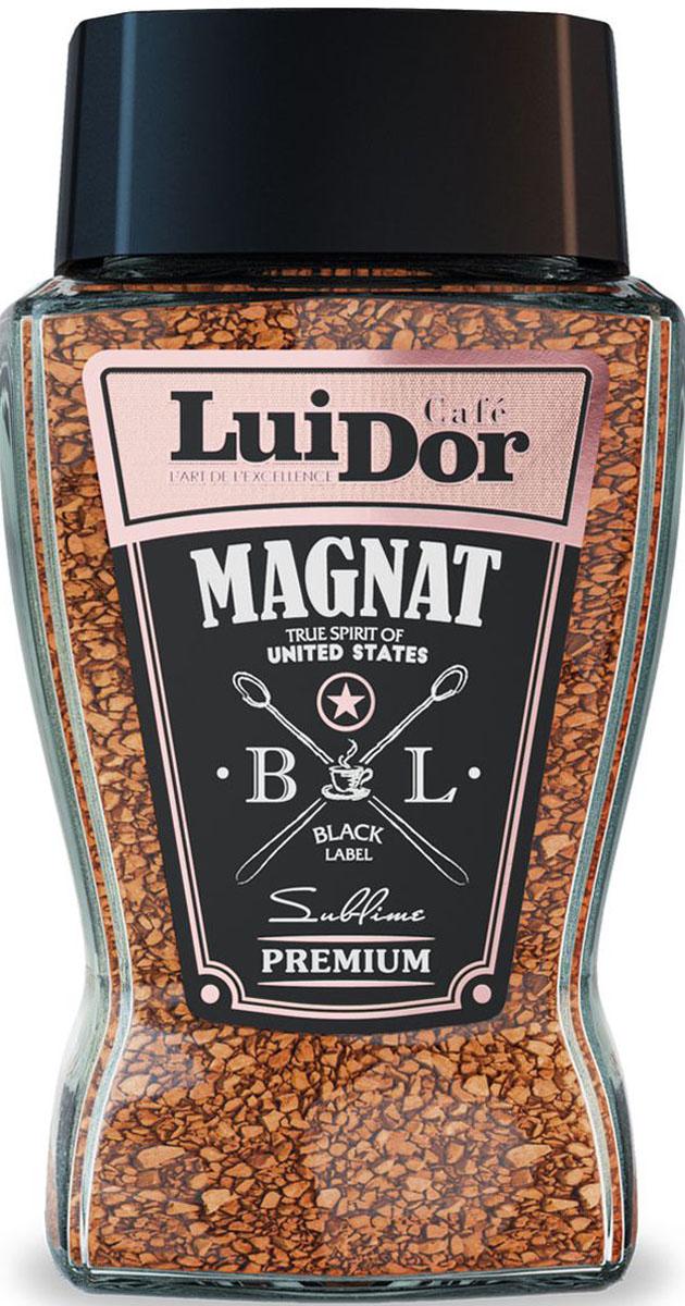 Luidor Magnat Black Label кофе растворимый, 95 г magnat quantum sub 731a black piano satin lacuer