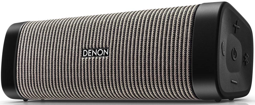 Denon Envaya Mini DSB-150, Grey портативная акустическая системаDSB150BTBGEMРазработанная для небольших комнат, колонка Envaya Mini легко наполнит вашу кухню или спальню звуком, оставаясь при этом достаточно компактной, чтобы взять ее с собой для прогулки в парке или на пикник в лес. Envaya Mini имеет класс защиты от влаги IP67, что означает, что она достаточно вынослива, чтобы перенести случайное падение в бассейне или ванну, а также работу под дождем.Для получения отличного звука инженеры Denon разработали новые динамики для каждой модели. Новые, инновационные технологии цифровой обработки звука, мощные усилители и прочный корпус обеспечивают качественный и мощный звук, с чистыми высокими и средними частотами, одновременно передавая глубокий бас с сохранением полного контроля и точности.Великолепное качество звука достигается благодаря технологии предварительной обработки звука, динамикам большего размера и более мощных встроенных усилителей. Динамики большого диаметра работают в паре с пассивным басовым излучателем, который аккуратно вписался в компактный дизайн этой колонки. Новейшие технологии обработки звука позволяют получить звук хорошего качества от любого источника.Denon Envaya защищена от воды и пыли. Класс защиты IP67 означает, что Envaya Pocket выдерживает погружение в воду на глубину до 1 метра в течение 30 минут. Для этого все разъемы закрываются защитными колпачками, зазоры защищены прокладками, а корпус водонепроницаем.Колонка Envaya оснащена беспроводным интерфейсом стандарта Bluetooth aptX Low Latency, способным воспроизводить потоковое аудио с качеством Audio-CD по Bluetooth, c минимальными задержками и надежным, устойчивым соединением.При включении питания устройство автоматически переходит в режим сопряжения. Просто откройте настройку Bluetooth на смартфоне и подтвердите сопряжение с Envaya. Если позднее Вы захотите подсоединить еще одну колонку, просто нажмите кнопку Bluetooth на устройстве. Нажатие и удерживание кнопки в течение 5 секунд позв