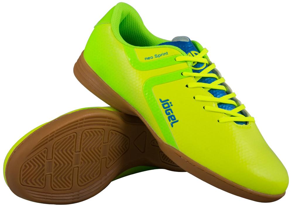 Бутсы для футзала мужские Jogel Rapido, цвет: лимонный. JSH4001. Размер 45 бутсы футбольные мужские jogel rapido цвет синий jsh1001 размер 45