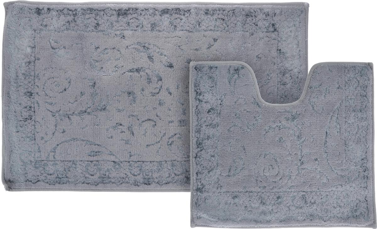 Коврик Arya Eskitme, цвет: серый, 60 х 100 см00-00000882_серыйКоврик Arya Eskitme, цвет: серый, 60 х 100 см