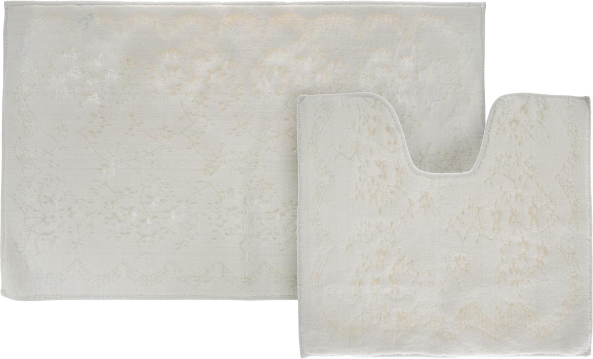 Набор ковриков для ванной Arya Bahar, цвет: серый, 60 х 100 см, 50 х 60 см, 2 шт00-00000875_кремовыйНабор Arya Bahar состоит из двух ковриков для ванной комнаты, один из которых имеет вырезпод унитаз. Ворс выполнен из качественного 100% хлопка. Коврики мягкие и приятные на ощупь,отлично впитывают влагу и быстро сохнут.Высокая износостойкость ковриков и стойкость цвета позволит вам наслаждаться покупкойдолгие годы. Размеры ковра для ванной: 60 х 100 см Размеры ковра с вырезом под унитаз: 50 х 60 см