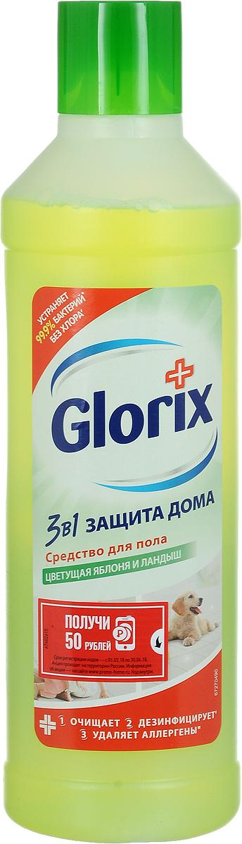 Glorix Средство для мытья пола Забота от природы, цветущая яблоня и ландыш, 1 л средство д пола glorix нежная забота 1л универсальное