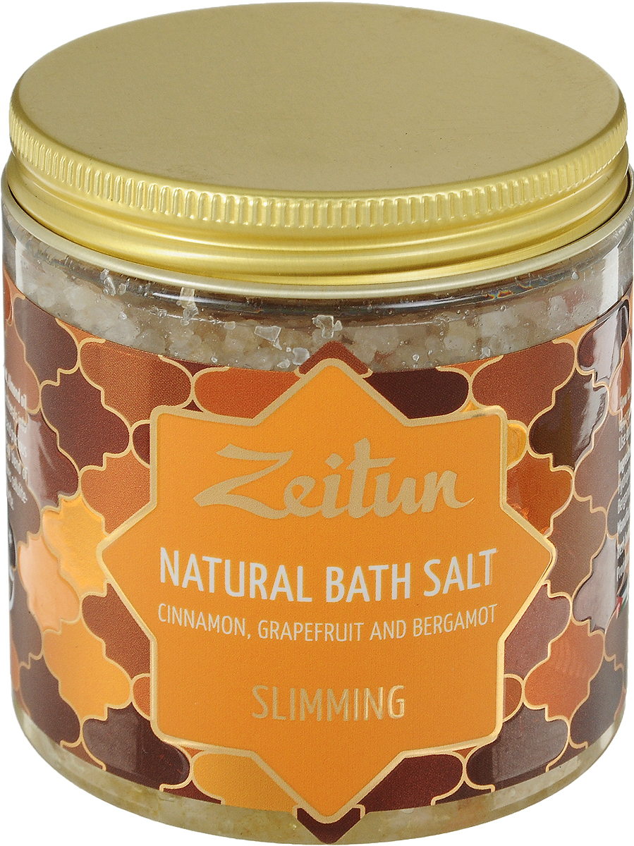 Зейтун Аромасоль для ванны для похудения, 250 млZ2109Один из древнейших и эффективнейших способов попрощаться с лишними сантиметрами – сделать хорошейпривычкой регулярные солевые ванны с ускоряющими метаболизм и сжигающими жиры компонентами. Моделирующая ароматическая соль для ванн Zeitun содержит улучшающий липолиз экстракт опунции,цитрусовые эфирные масла грейпфрута, бергамота и пряное эфирное масло корицы. В комплексе компонентыактивно проникают в подкожные ткани во время принятия ванн, разогревают, ускоряют кровообращение и всеобменные процессы. Соль Мертвого моря и Индийского океана в основе смеси усиливают действие активныхнатуральных добавок, обеспечивают необходимое микроэлементное питание, налаживают гидролипидныйбаланс, а гидрофильные масла оливы и миндаля глубоко увлажняют, полностью впитываясь и не оставляямасляных разводов на воде. В составе моделирующей соли Мертвого моря и Индийского океана – активизирующие обмен веществ,эффективные в процессе похудения эфирные масла и экстракты в сочетании увлажняющими растительнымимаслами:Экстракт опунции богатейший источник галактуроновой кислоты и полисахаридов – активизируетбиологические процессы, защищает клетки от раннего старения.Эфирные масла грейпфрута и бергамота ускоряют кровообращение, улучшают обмен веществ, эффективноборются с целлюлитом, способствуют сжиганию жировых отложений, выравнивают поверхность кожи.Эфирное масло корицы оказывает легкое разогревающее действие, так же эффективно разгоняет обменныепроцессы и улучшает состояние кожного покрова.Соль Мертвого моря – самая настоящая кладезь для здоровья, у которой нет ни единого аналога в мире.Богатая микроэлементами соль поистине волшебно воздействует на общее состояние организма, борется скожными заболеваниями, снимает усталость мышц и суставов.Соль Индийского океана обладает уникальным макро- и микроэлементным составом, который высоко ценится вмедицине и косметологии. Соль способствует активному насыщению клеток практически всем спектромнеобходимых
