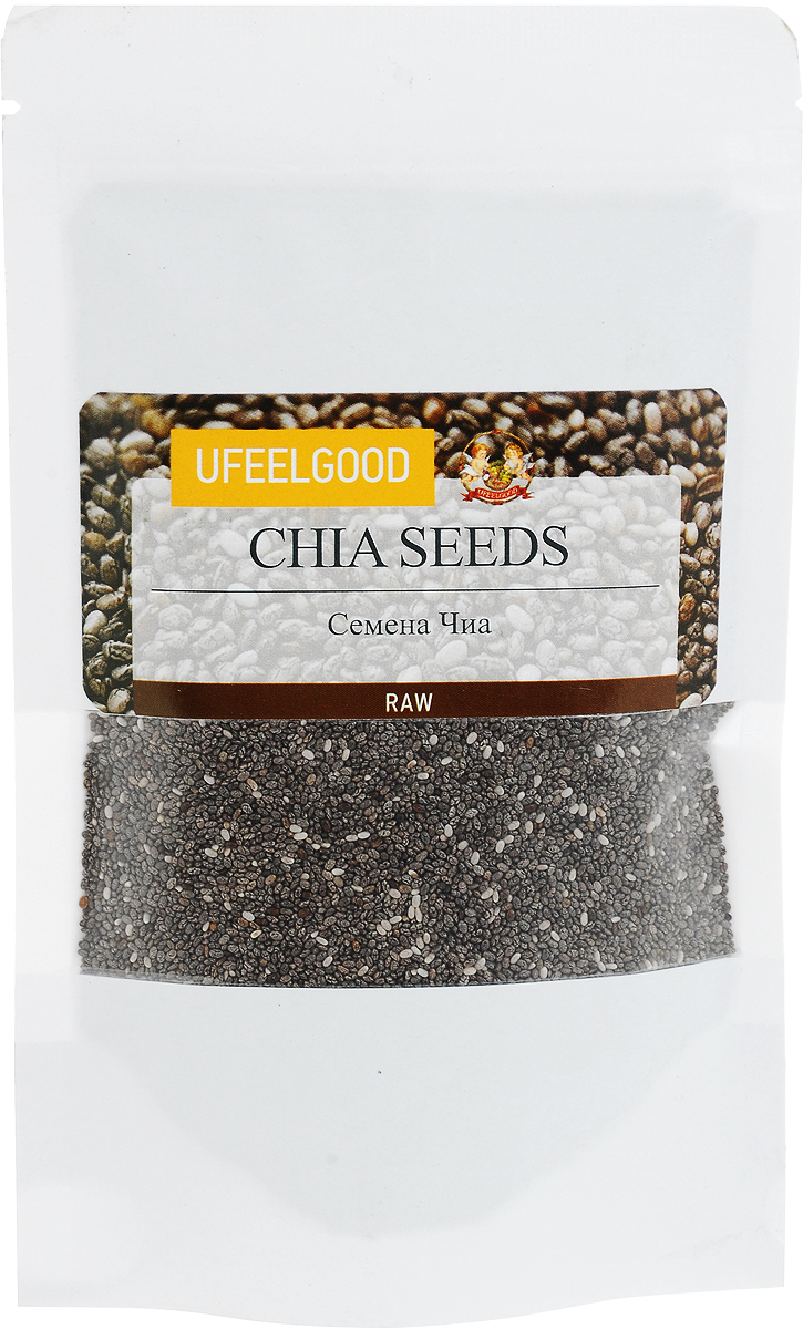 UFEELGOOD Organic Chia Premium Seeds органические семена чиа, 150 г ufeelgood organic chocolate golden berry физалис в сыром шоколаде 50 г