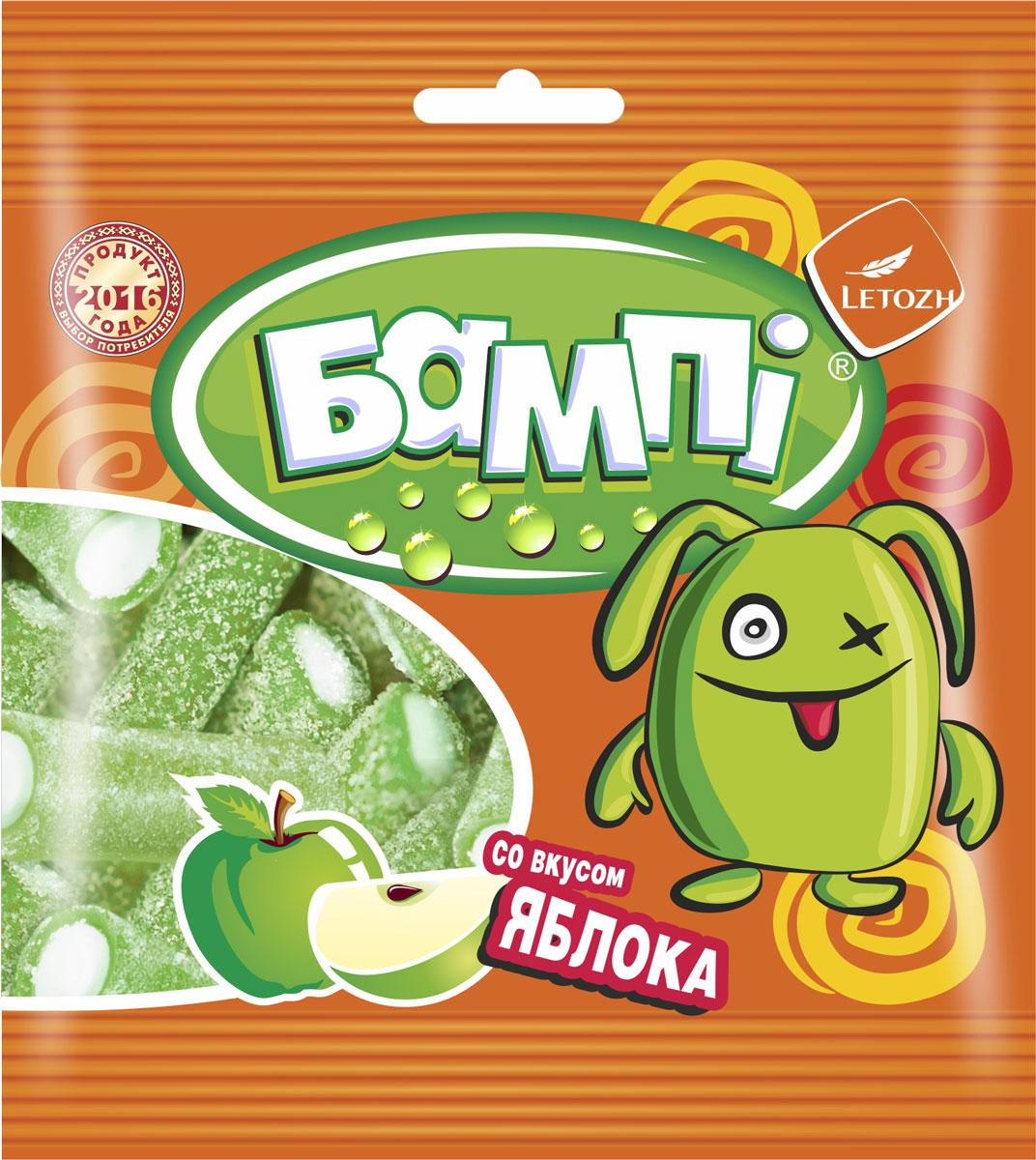 Бампi мармеладные трубочки со вкусом зеленого яблока, 75 г pomorzanka макарена мармеладные дольки 200 г