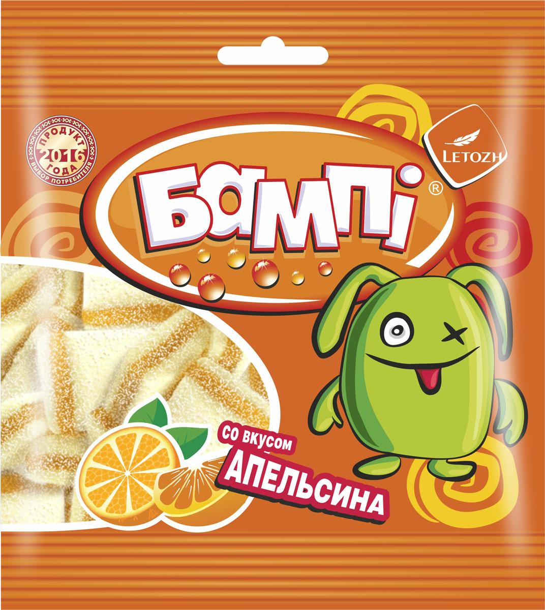 Бампi мармеладный сэндвич со вкусом апельсина, 75 г ударница мармелад со вкусом персика 325 г