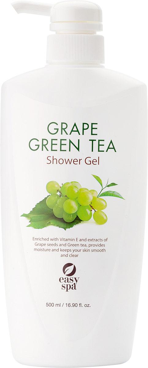 Easy Spa Гель для душа Grape&GreenTea, 500 мл63546Антиоксиданты, содержащиеся в экстракте косточек винограда и зелёном чае, защищают от вредного воздействия свободных радикалов. Виноградное масло легко впитывается в кожу, смягчает и питает её.