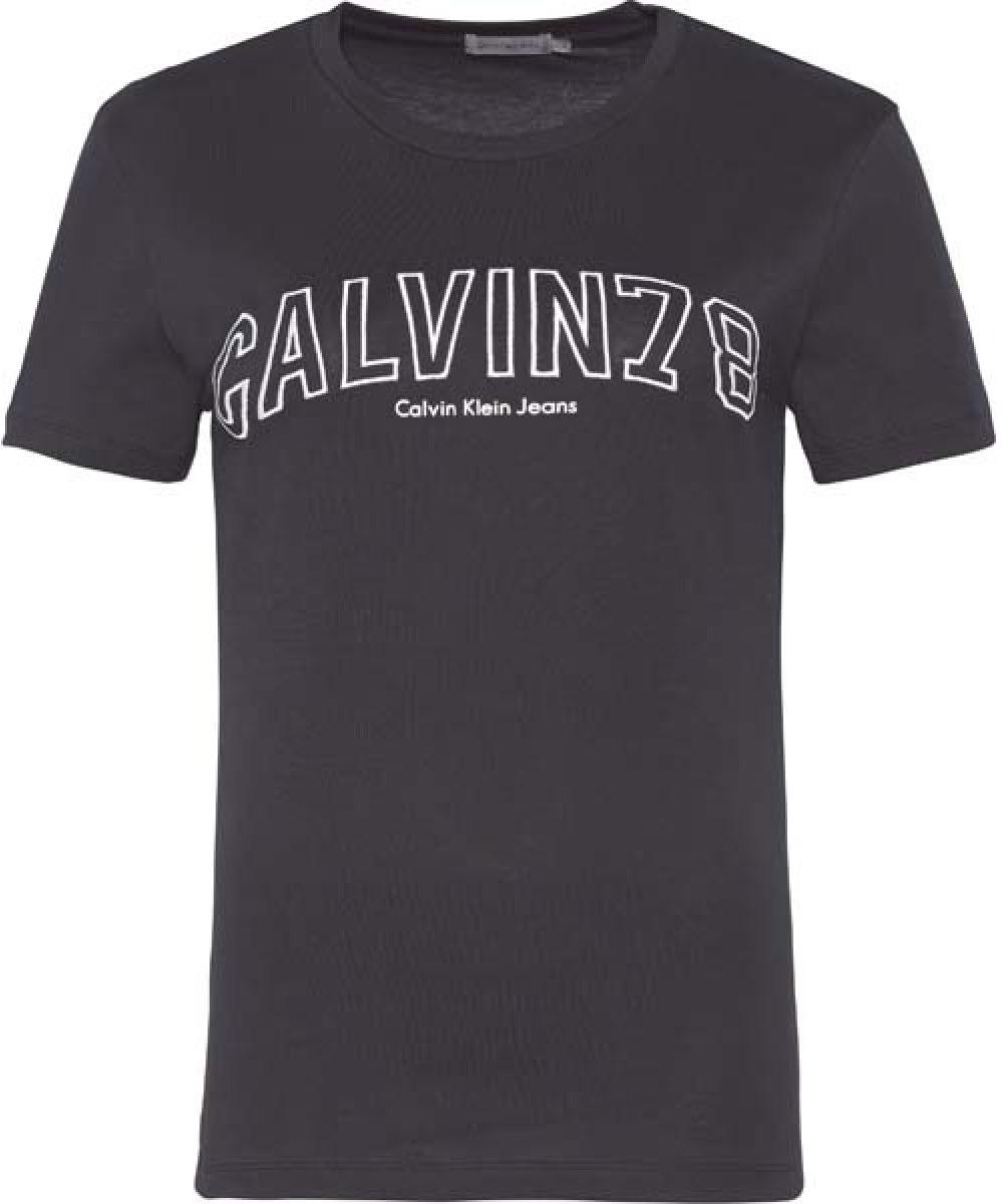 Футболка женская Calvin Klein Jeans, цвет: черный. J20J206859_0990. Размер XS (40/42) футболка calvin klein jeans calvin klein jeans ca939ewuhm56