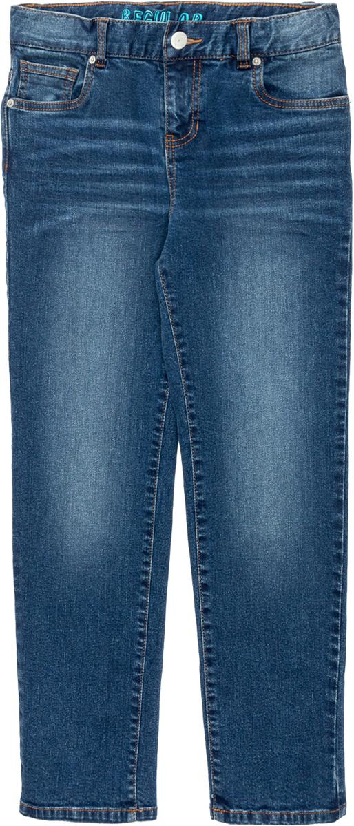 Джинсы для мальчика Acoola Mit, цвет: синий. 20110160133_500. Размер 16420110160133_500Прямые джинсы из эластичного денима с выбеленным эффектом. Модель с внутренней регулируемой резинкой на талии, пятью карманами, застежкой на молнию и пуговицу.