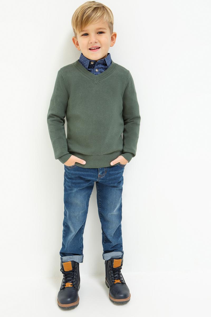 Джинсы для мальчика Acoola Mit, цвет: синий. 20120160137_500. Размер 11620120160137_500Прямые джинсы из эластичного денима с выбеленным эффектом. Модель с внутренней регулируемой резинкой на талии, пятью карманами, застежкой на молнию и крючок.