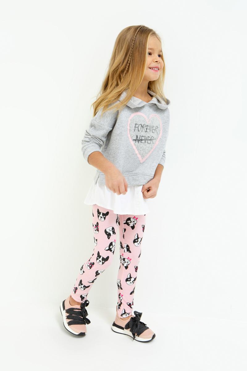 Леггинсы для девочки Acoola Kira, цвет: светло-розовый. 20220160150_3400. Размер 12220220160150_3400Трикотажные леггинсы с ярким набивным принтом. Талия на эластичной резинке.