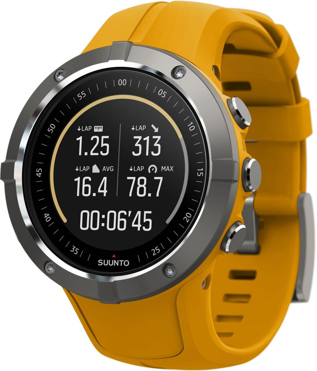 """Часы спортивные Suunto """"Spartan Trainer Wrist HR Amber"""", цвет: желтый, черный"""