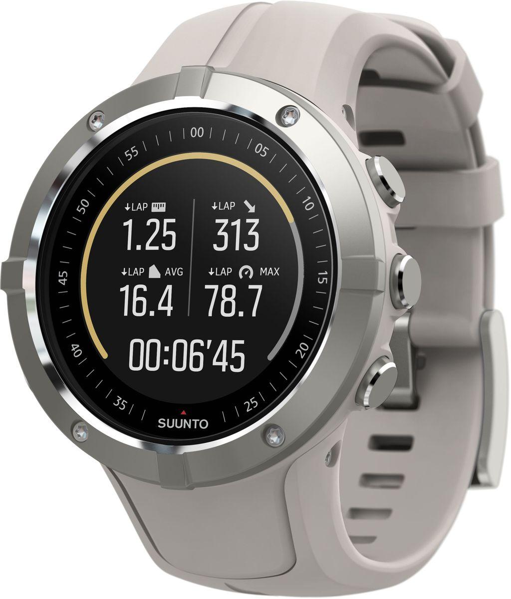 """Часы спортивные Suunto """"Spartan Trainer Wrist HR Sandstone"""", цвет: серый, черный"""