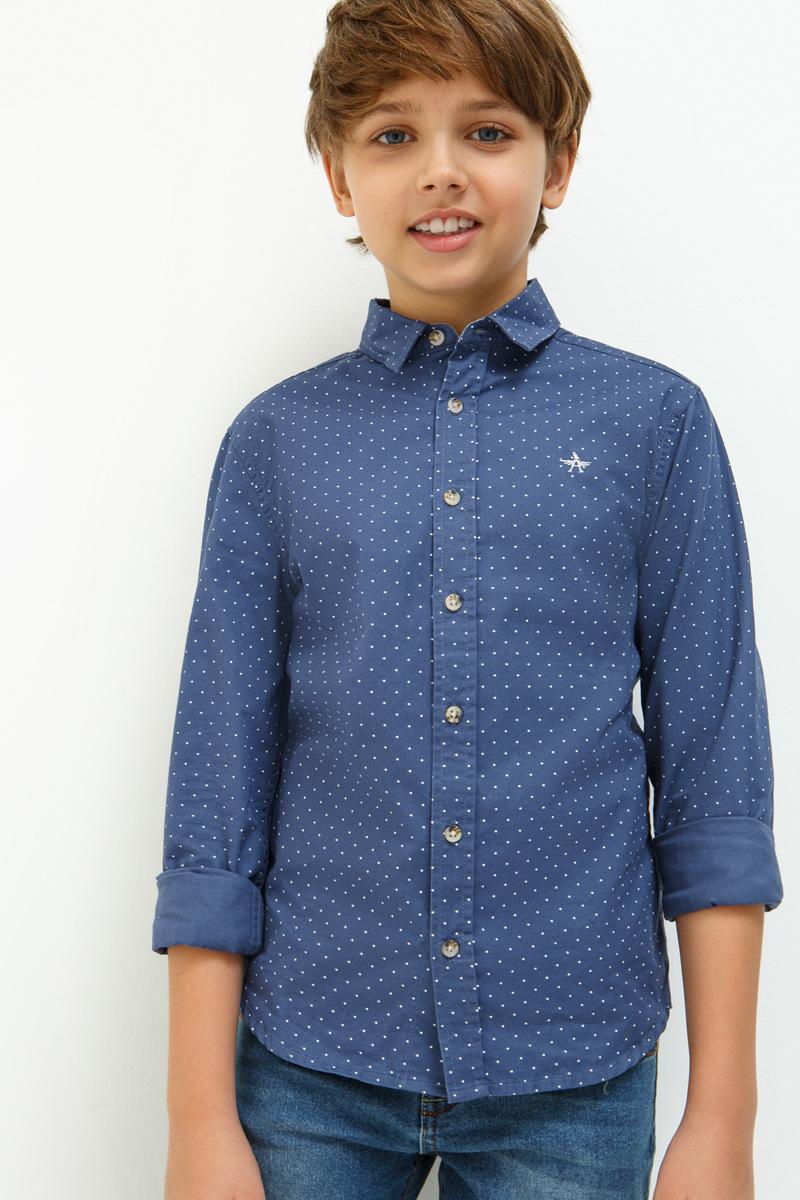 Рубашка для мальчиков Acoola Falcone, цвет: синий. 20110280063_500. Размер 15220110280063_500