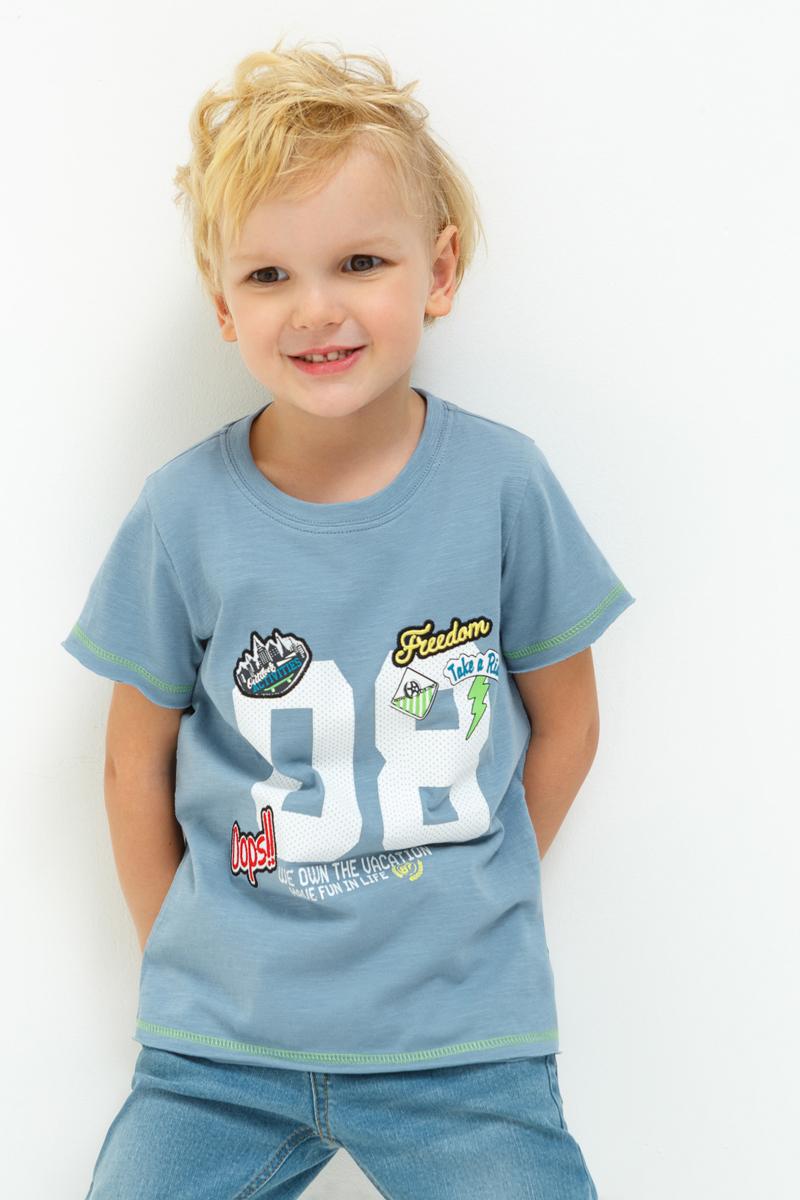 Футболка для мальчиков Acoola Fox, цвет: голубой. 20120110084_400. Размер 128 слипоны acoola