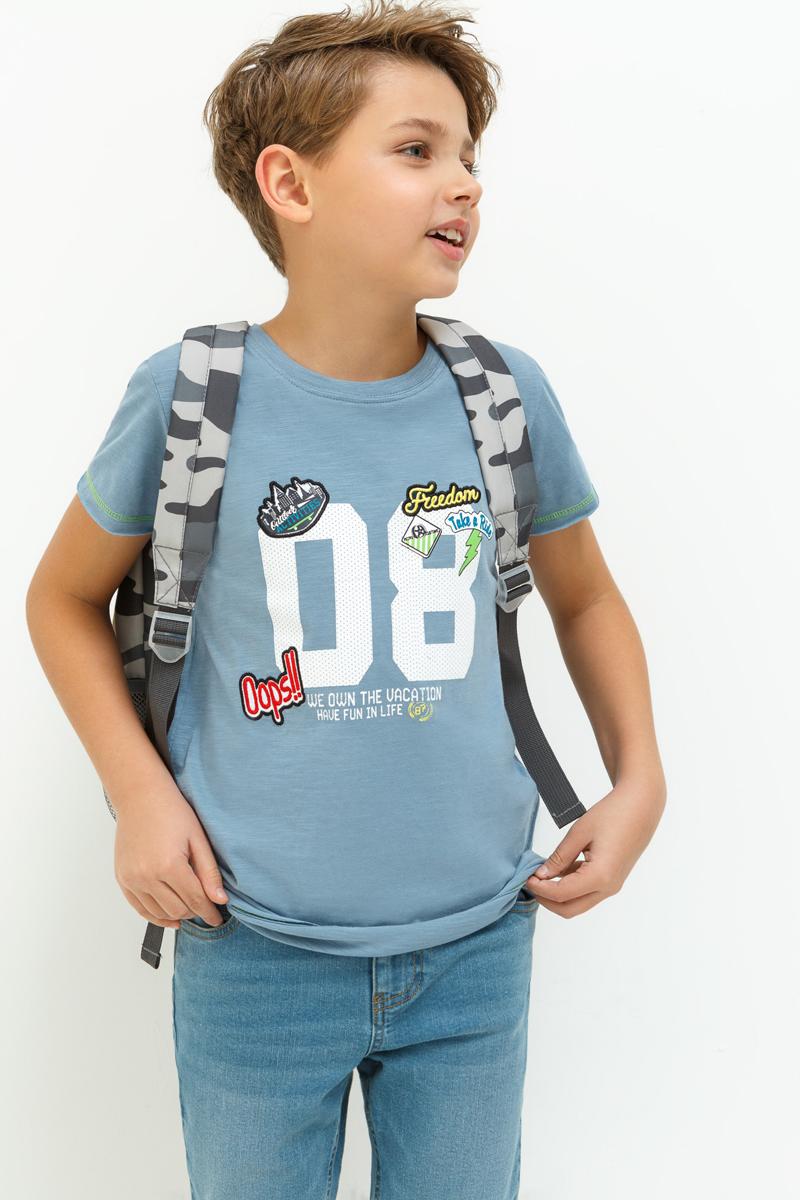 Футболка для мальчика Acoola Fox, цвет: голубой. 20110110083_400. Размер 170 футболка для мальчика acoola remark цвет светло бежевый 20110110105 300 размер 170