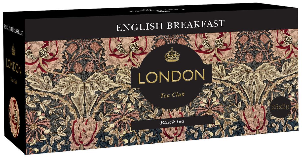 London Tea Club English Breakfast чай черный в пакетиках, 25 шт