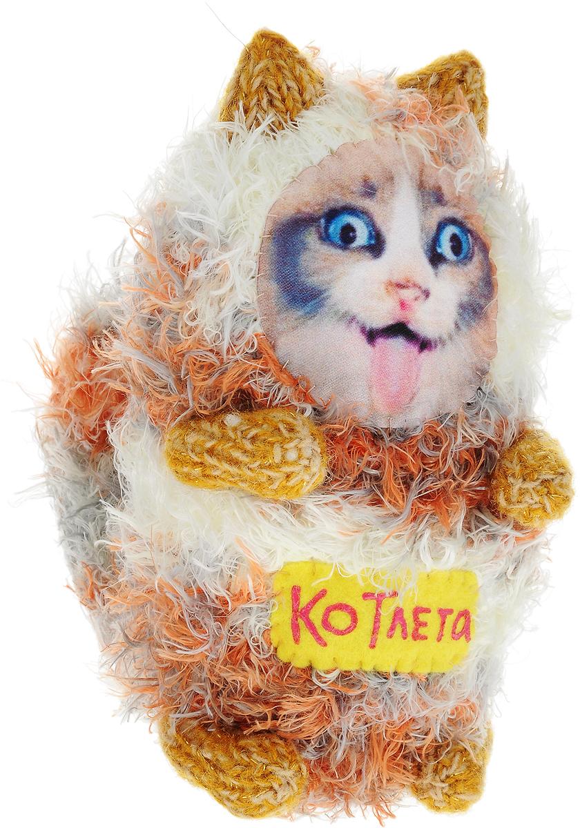 Мягкая игрушка Бюро находок Котик. КОТлета, цвет: серый книги питер вязаные коты и другие игрушки