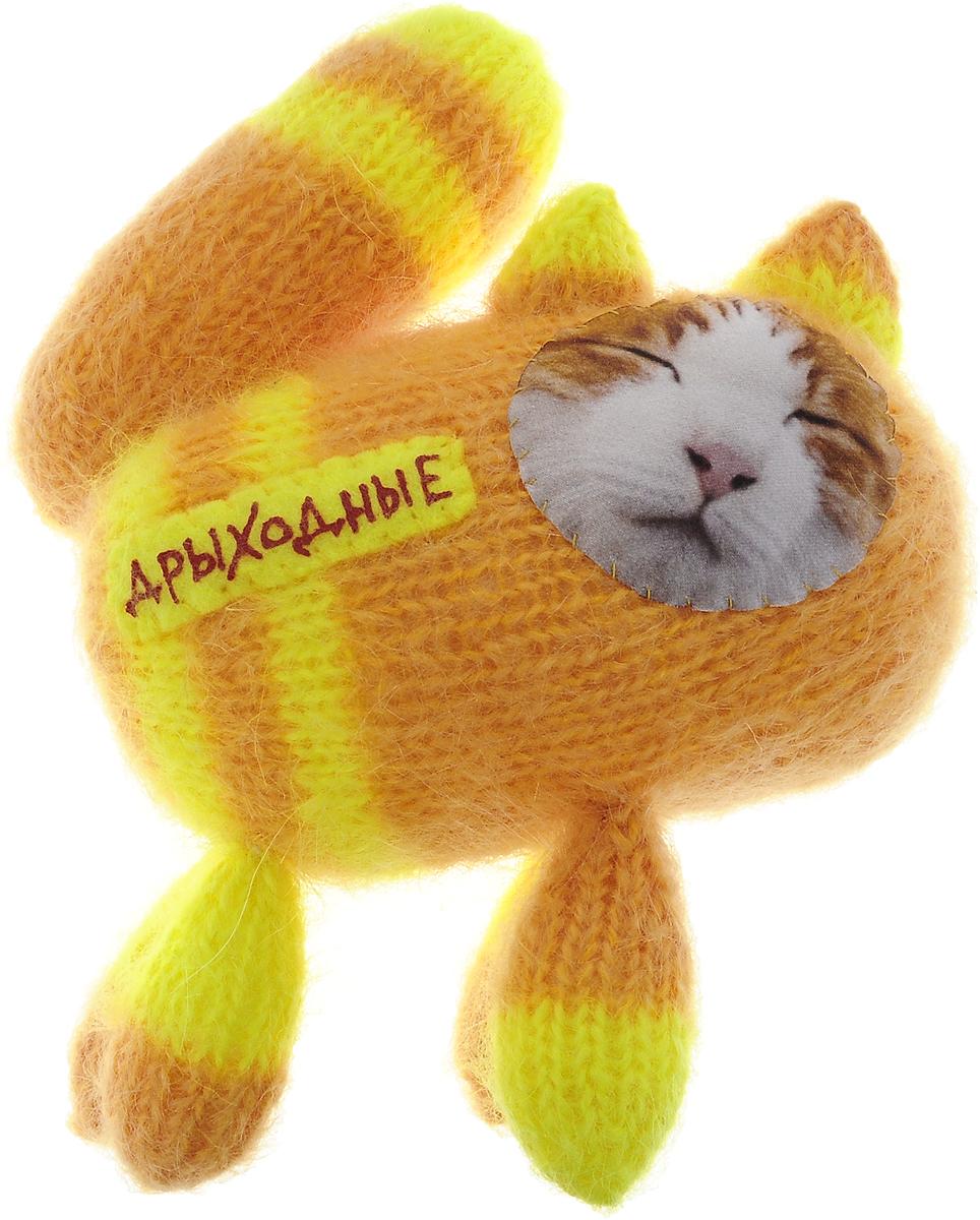 Мягкая игрушка Бюро находок Котик. Дрыходные, цвет: желто-оранжевый рюмки бюро находок рюмка сними напряжение