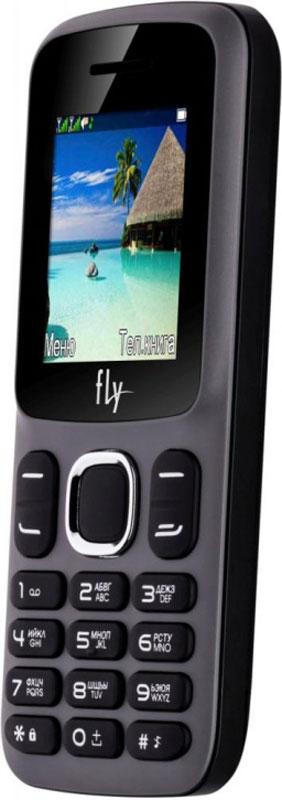 Fly FF180, Grey10728Мобильный телефон Fly FF180 оснащен 1,77-дюймовым экраном, созданным с применением технологии TN. За счет этого изображение на нем выглядит четким, ярким и контрастным.Встроенный проигрыватель дает возможность воспроизводить аудио- и видеофайлы разных форматов. Кроме того, телефон можно использовать в качестве миниатюрного радиоприемника. Модель FF180 читает MP3-файлы и поддерживает работу с картами памяти на 16 Гб. Мобильный телефон помогает экономить на оплате счетов за услуги связи. Он поддерживает две SIM-карты стандартных размеров, позволяя менять операторов или тарифы в зависимости от ситуации.Телефон оснащен емким аккумулятором 800 мАч. Максимальная продолжительность работы устройства в режиме ожидания - 200 часов. При разговоре батареи хватает на 4 часа.Телефон сертифицирован EAC и имеет русифицированную клавиатуру, меню и Руководство пользователя.