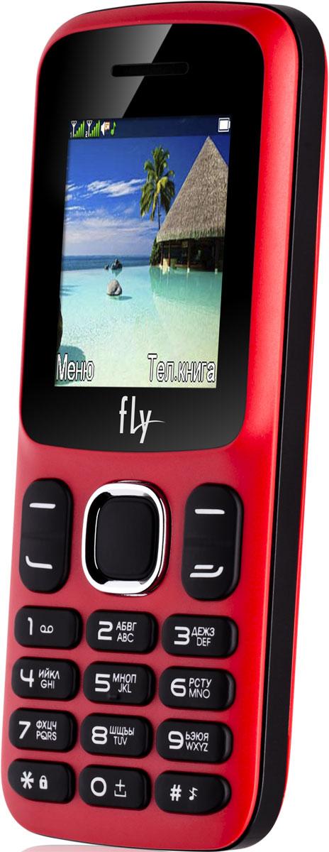 Fly FF180, Red10365Мобильный телефон Fly FF180 оснащен 1,77-дюймовым экраном, созданным с применением технологии TN. За счет этого изображение на нем выглядит четким, ярким и контрастным.Встроенный проигрыватель дает возможность воспроизводить аудио- и видеофайлы разных форматов. Кроме того, телефон можно использовать в качестве миниатюрного радиоприемника. Модель FF180 читает MP3-файлы и поддерживает работу с картами памяти на 16 Гб. Мобильный телефон помогает экономить на оплате счетов за услуги связи. Он поддерживает две SIM-карты стандартных размеров, позволяя менять операторов или тарифы в зависимости от ситуации.Телефон оснащен емким аккумулятором 800 мАч. Максимальная продолжительность работы устройства в режиме ожидания - 200 часов. При разговоре батареи хватает на 4 часа.Телефон сертифицирован EAC и имеет русифицированную клавиатуру, меню и Руководство пользователя.
