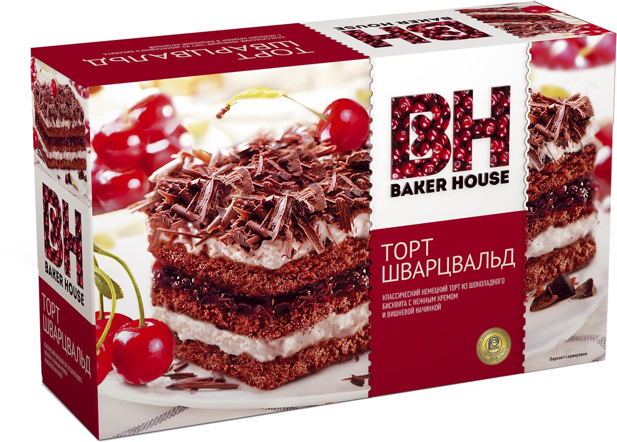 Baker House Шварцвальд торт бисквитный, 350 г baker house мини тарты с карамельно арахисовый начинкой 240 г