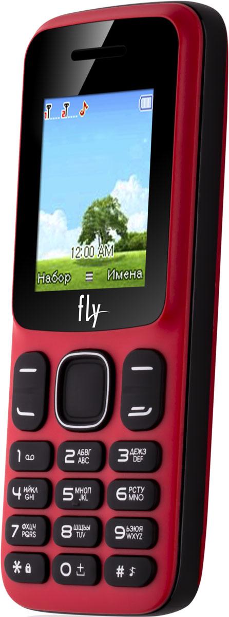 Fly FF181, Red10511Мобильный телефон Fly FF181 оснащен 1,77-дюймовым экраном, созданным с применением технологии TN. За счет этого изображение на нем выглядит четким, ярким и контрастным.Встроенный проигрыватель дает возможность воспроизводить аудио- и видеофайлы разных форматов. Кроме того, телефон можно использовать в качестве миниатюрного радиоприемника. Модель FF181 читает MP3-файлы и поддерживает работу с картами памяти на 16 Гб. Мобильный телефон помогает экономить на оплате счетов за услуги связи. Он поддерживает две SIM-карты стандартных размеров, позволяя менять операторов или тарифы в зависимости от ситуации.Телефон оснащен емким аккумулятором 1700 мАч. Максимальная продолжительность работы устройства в режиме ожидания - 400 часов. При разговоре батареи хватает на 7 часов.Телефон сертифицирован EAC и имеет русифицированную клавиатуру, меню и Руководство пользователя.