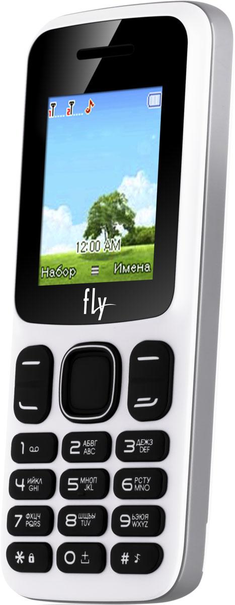 Fly FF181, White10364Мобильный телефон Fly FF181 оснащен 1,77-дюймовым экраном, созданным с применением технологии TN. За счет этого изображение на нем выглядит четким, ярким и контрастным.Встроенный проигрыватель дает возможность воспроизводить аудио- и видеофайлы разных форматов. Кроме того, телефон можно использовать в качестве миниатюрного радиоприемника. Модель FF181 читает MP3-файлы и поддерживает работу с картами памяти на 16 Гб. Мобильный телефон помогает экономить на оплате счетов за услуги связи. Он поддерживает две SIM-карты стандартных размеров, позволяя менять операторов или тарифы в зависимости от ситуации.Телефон оснащен емким аккумулятором 1700 мАч. Максимальная продолжительность работы устройства в режиме ожидания - 400 часов. При разговоре батареи хватает на 7 часов.Телефон сертифицирован EAC и имеет русифицированную клавиатуру, меню и Руководство пользователя.