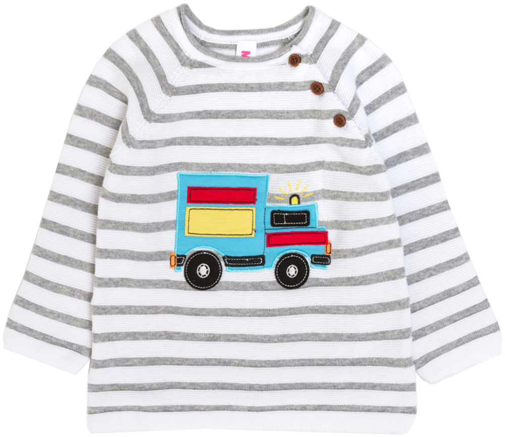 Джемпер для мальчика Maloo by Acoola Chase, цвет: белый. 22150310005_200. Размер 80 джемперы acoola джемпер для девочек в полоску из люрекса цвет ассорти размер 158 20210100174