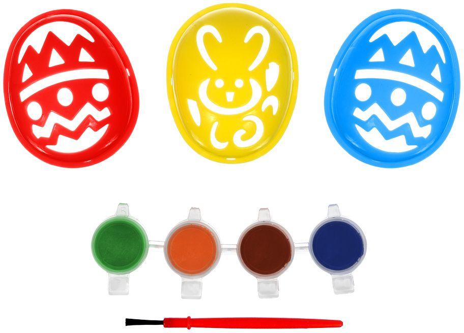 Набор для раскрашивания яиц Marmiton, 8 предметов17079Набор для раскрашивания яиц и создания праздничной атмосферы. В комплект входит: 3 трафарета для яиц, кисть, краска для яиц: 4 шт.