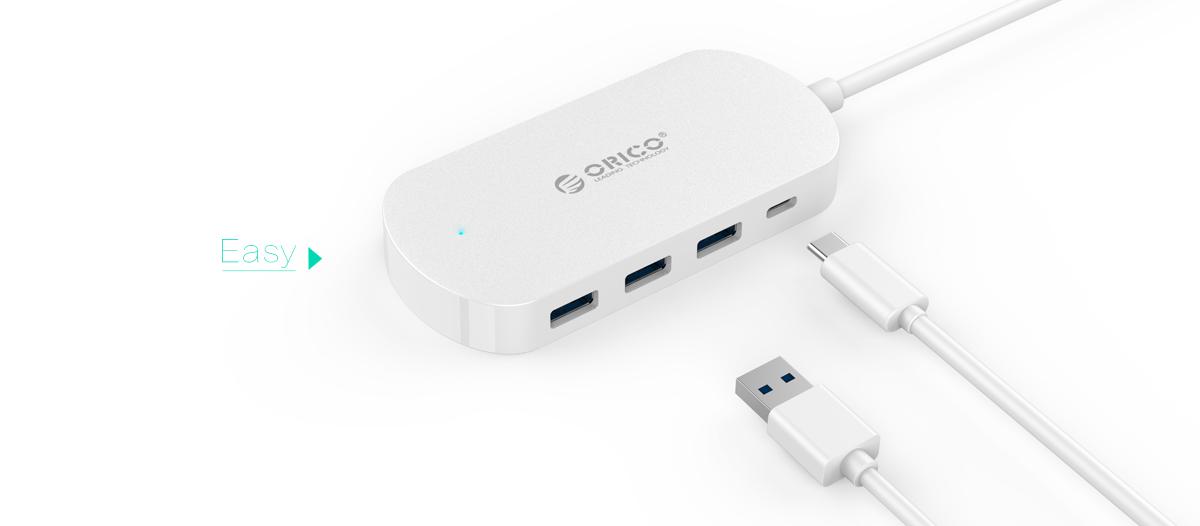 Orico HCD1-PRO, White USB-концентратор - Кабели и переходники