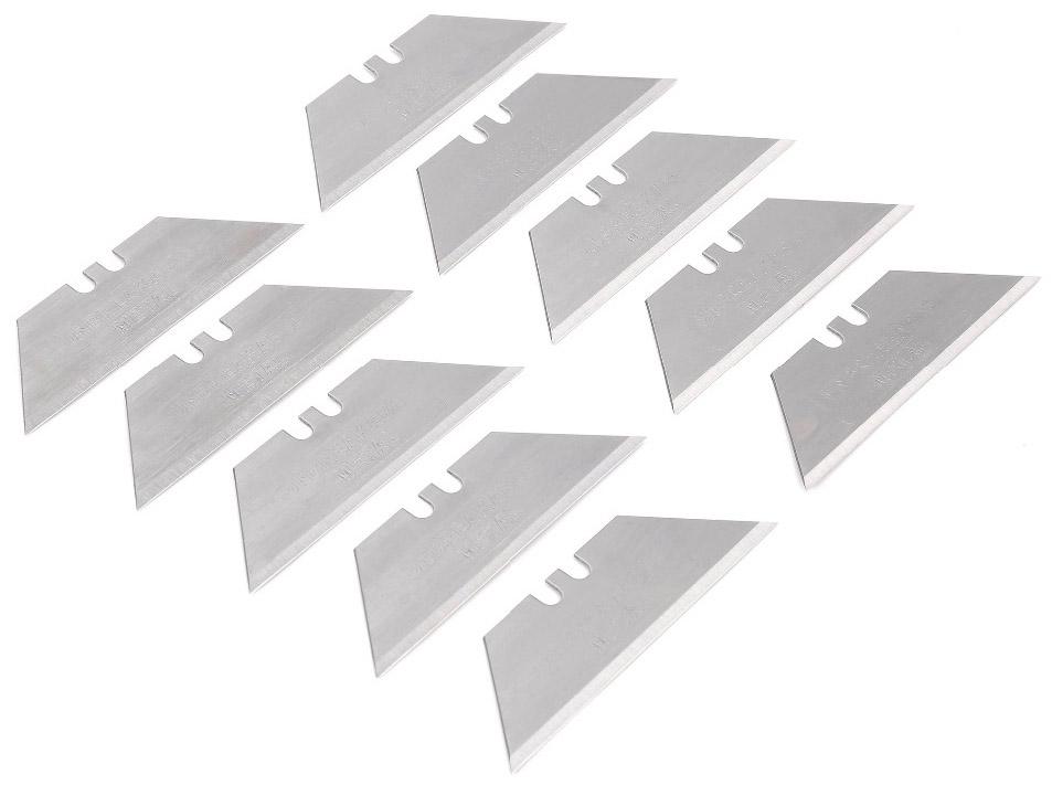 Набор лезвий Workpro, 61 мм, 10 штW013003В набор входят 10 лезвий, выполненных из нержавеющей закаленной Японской стали SK5. Идеально подходят для резки толстых и плотных материалов. Подходят для всех типов ножей с фиксированным, складным и выдвижным лезвием. Удобная конструкция пинала для хранения и извлечения лезвий. Габариты набора : 65х26х15 мм. Вес набора 38 гр.