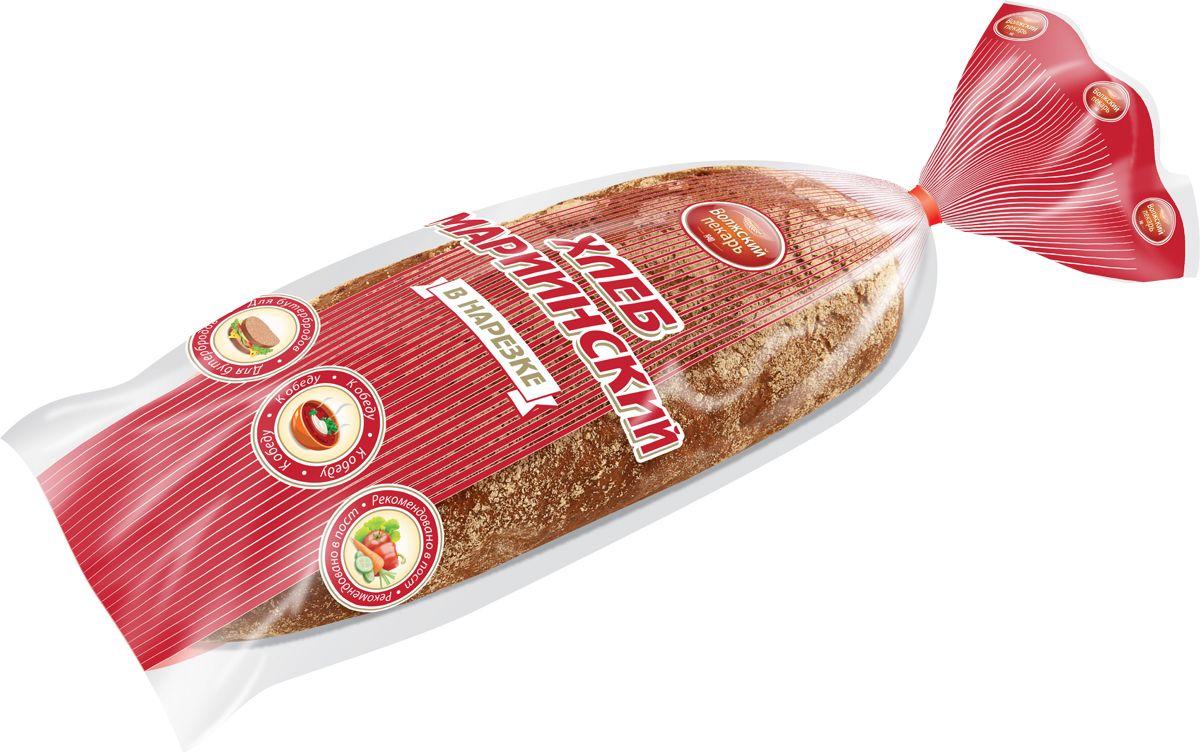 Волжский Пекарь Хлеб Мариинский, в нарезке, 400 г хлебная смесь молочный хлеб