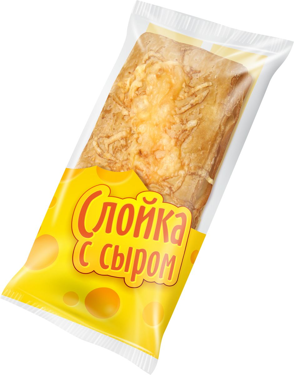Слойка из муки пшеничной в/с , посывается сыром.