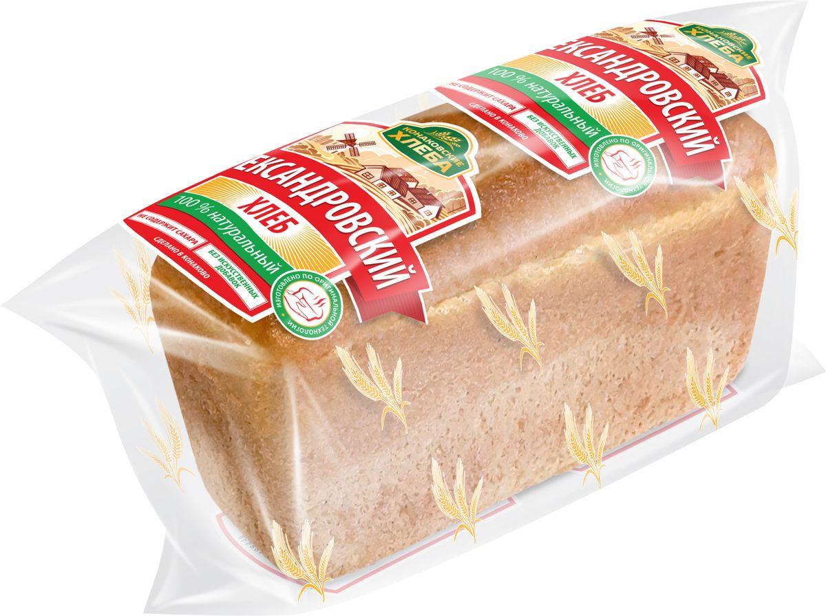 Волжский Пекарь Хлеб Александровский, 600 г хлебная смесь чесночный хлеб