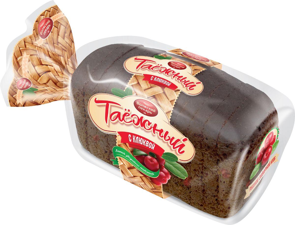 Волжский Пекарь Хлеб Таежный с клюквой, в нарезке, 250 г хлебная смесь молочный хлеб