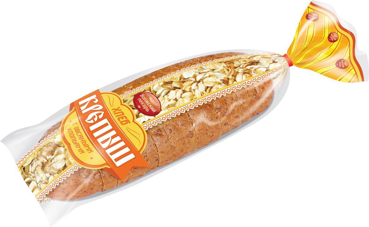Волжский Пекарь Хлеб Крепыш с овсяными хлопьями, в нарезке, 280 г хлебная смесь хлеб из цельносмолотой муки