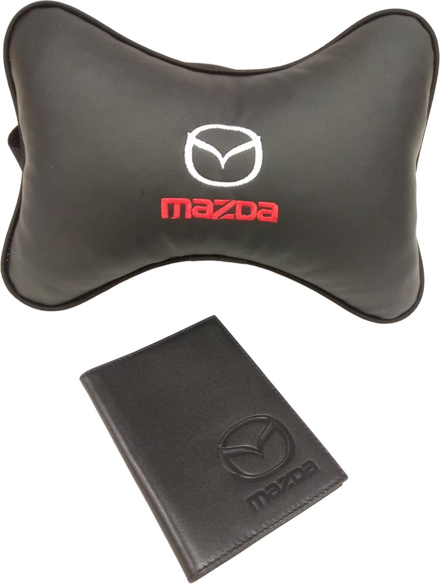 Подарочный набор автомобилисту Auto Premium, с логотипом Mazda, 2 предмета67814Лаконичный подарок любому автолюбителю. Подушка в салон автомобиля с индивидуальной вышивкой добавит комфорта при поездке в автомобиле. Бумажник водителя с тиснением автологотипа выполнен из натуральной кожи и имеет презентабельный внешний вид. На внутреннем развороте обложки имеются все необходимые карманы для хранения автодокументов.